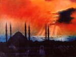 103sunsetoverthesultanahametmosqueistanbul