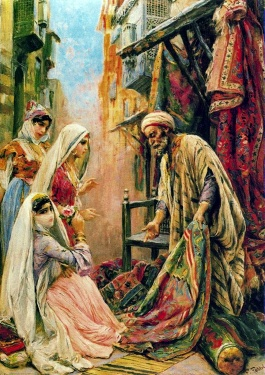 Itinerant Seller of Rugs in Cairo