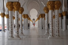 Sheikh Zayed Mosque in Dubai (pillars)