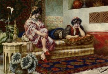 Franz Von Defregger- Hours in harem