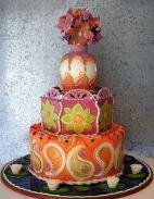 wedding cake indian theme rosebud
