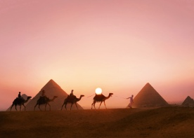 Egyptian-pyramids-sunset1